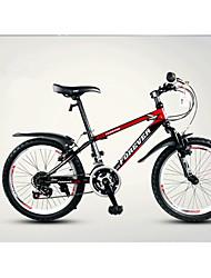 Bicicleta De Montanha Ciclismo 18 velocidade 20 polegadas TX30 Freio em V Suspensão Garfo Quadro de Aço Carbono Comum Anti-Escorregar