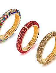 Жен. Браслет разомкнутое кольцо Цирконий Базовый дизайн Мода обожаемый Pоскошные ювелирные изделия Циркон Позолота Позолоченное розовым