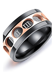Men's Band Rings Fashion Vintage Elegant Titanium Steel Ring Jewelry For Wedding Party Engagement Ceremony Evening Party Stage