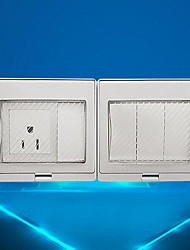Electrical Outlets PP With Switch 9*19*5
