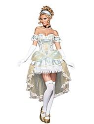 Une Pièce/Robes Costumes de Cosplay Bal Masqué Princesse Conte de Fée Fête / Célébration Déguisement d'Halloween Couleur unie Rétro Robes