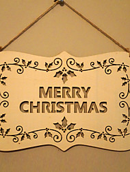 European and American wooden Christmas English letters are listed for Christmas Eve tree decorations