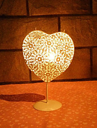 Retro Moroccan Style Candle Holder Heart Shape Vintage Iron Candlestick Candle Lantern Home Garden Wedding Decoration