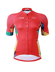 Cycling Jersey Women's Short Sleeves Bike Jersey Fast Dry Quick Dry YKK Zipper High Elasticity Stretchy Polyester Geometric Graphic