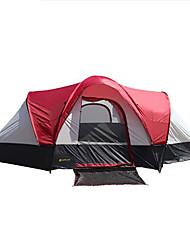 10 Tente Double Tente pliable Deux pièces Tente de camping 1500-2000 mm Oxford Fibre de verreEtanche Pare-vent Ecran Solaire Protection