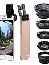5-в-1 комплект для рыбьего глаза широкоугольный объектив для объектива ccplo для мобильного телефона для iphone 7 6 / 6s plus