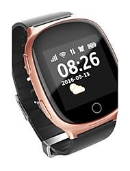Women's Men's Smart Watch Mechanical manual-winding Leather Band Black Brown