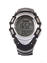 Men's Digital Watch Digital Altimeter Thermometer Water Resistant / Water Proof Rubber Band Black White Green