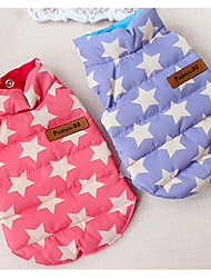 Dog Vest Dog Clothes Casual/Daily Stars Blushing Pink Blue