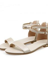 Women's Sandals Gladiator Nappa Leather Summer Casual Gladiator Flat Heel Champagne Ruby Beige Black Gold Flat