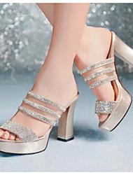 Women's Heels Comfort PU Spring Casual Comfort Light Blue Blue Black White 3in-3 3/4in