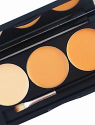 pro 3 cores contorno concealer kit 2in1 blush blusher brilho contorno bronzeado base brilhante creme fosco paleta cosmética