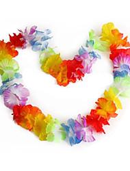 10 Piece/ Set Hawaiian Flower leis Garland Necklace Fancy Dress Party Hawaii Beach Fun Flowers DIY Party Beach Decoration