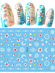1pcs Nail Art Fashin DIY Beauty 3D Sticker Beautiful Flower Sweet Decoration Manicure Design Beauty Tip F262