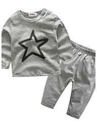 малыш Для детей На открытом воздухе Спортивная На каждый день Спорт Набор одежды,Мультяшная тематика Весна/осень