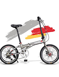 Folding Bike Cycling 7 Speed 20 Inch SHIMANO Disc Brake Non-Damping Aluminium Alloy Frame Folding Aluminium