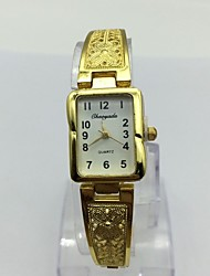 Women's Bracelet Watch Chinese Quartz Alloy Band Casual Gold