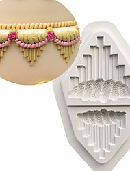 Royal Icing Serrated V's Wedding Cake Decorating Too Silicone Mould Fondant Cake Mold Cupcake Tassel Polymer Clay Molds Random Color