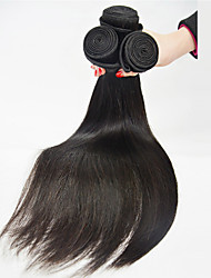 Straight Human Hair Extension Natural Black Silk Straight Human Hair Weaves 100% Human Hair