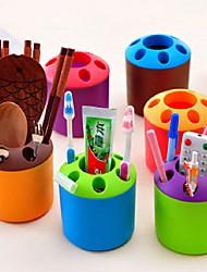 Подставки для зубных щеток,Пластик Обои для рабочего Организатор
