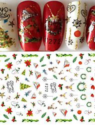 1 Autocollant d'art de clou 3D Noël Produits DIY Autocollant Maquillage cosmétique Nail Art Design
