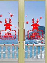 Noël Vacances Stickers muraux Autocollants avion Autocollants muraux décoratifs,Papier Matériel Décoration d'intérieur Calque Mural