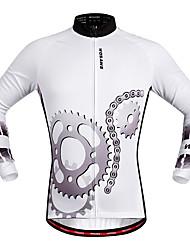 WOSAWE Maglia da ciclismo Unisex Manica lunga Bicicletta Maglietta/Maglia Asciugatura rapida Traspirabilità Elastico Tessuto sintetico Di