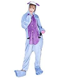 kigurumi Pyjamas Âne Fête / Célébration Pyjamas Animale Halloween Mode Brodée Flanelle Costumes de Cosplay Chaussures Kigurumi PourCouple