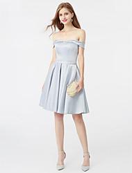 Vestido de festa de cocktail de cetim curto / mini vestido de bola com o vestido
