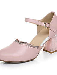 Women's Heels Comfort PU Fall Casual Blushing Pink 2in-2 3/4in
