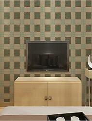 Tartan Imprimé Fond d'écran pour la maison Rétro Revêtement , PVC/Vinyl Matériel Ruban Adhésif fond d'écran , Couvre Mur Chambre