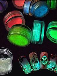 Meninas e Jovens Mulheres Brilha no Escuro Efeito 3D Flash Artigos DIY Pó Descanso para Mãos para Manicure