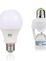 12W Круглые LED лампы 24 SMD 2835 1050-1250 lm Тёплый белый Белый Декоративная Датчик человеческого тела V 1 комплект E27