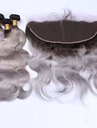 Trama do cabelo com Encerramento Cabelo Brasileiro Onda de Corpo 12 meses 4 Peças tece cabelo kg Mechas Rápidas Tecidas