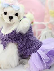 Cachorro Vestidos Roupas para Cães Casual Princesa Roxo Vermelho