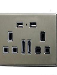 Enchufes electricos PP Con cargador USB Outlet 10*9*6