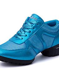 """Women's Modern Tulle Full Sole Training Low Heel Blue Ruby Black Under 1"""""""