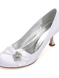 Damen Hochzeit Schuhe Komfort Pumps Satin Frühling Sommer Hochzeit Kleid Party & Festivität Strass Schleife Glitter Band-Bindung Blume