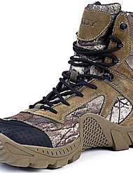 Men's Boots Bootie Fall Winter Suede Canvas Hiking Shoes Athletic Casual Outdoor Army Green 1in-1 3/4in
