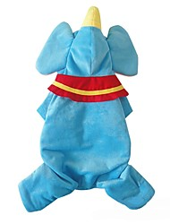 Dog Costume Dog Clothes Cosplay Cartoon Blue