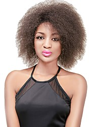 Fashion Synthetic Wigs Brown Wig Afro Kinky Straight Curly  Heat Resistant Hair Wig for Women