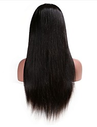 Mujer Pelucas de Cabello Natural Cabello humano Encaje Frontal 130% Densidad Rizado Peluca Negro Negro Corto Medio Largo Caligrafía Alta