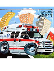 Jigsaw Puzzles Jigsaw Puzzle Building Blocks DIY Toys Car House Truck Flower Wooden