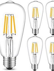 4W Lampadine LED a incandescenza ST64 4 COB 360 lm Bianco caldo Luce fredda Decorativo AC 220-240 V 5 pezzi E27