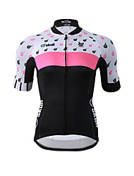 Cycling Jersey Women's Short Sleeves Bike Jersey Fast Dry Quick Dry YKK Zipper High Elasticity Stretchy Polyester Fashion Skull Summer