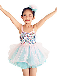 MiDee Ballet Dresses Children's Performance Spandex / Polyester / Organza / Sequined Bow(s) / Paillettes / Ruffles / Sequins / Tiers / Splicing