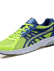 Masculino Tênis Conforto Tule Verão Casual Caminhada Cadarço Rasteiro Verde e Azul Verde Claro Laranja e Preto 5 a 7 cm