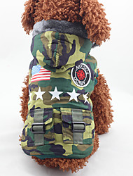 Dog Coat Dog Clothes Fashion American/USA Camouflage Color