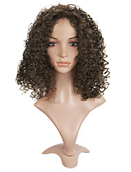 Short Afro Curly Wig For African American Brown Color Heat Resistant Synthetic Wigs For Black Women