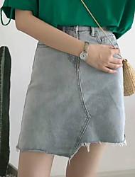 Women's Beach Asymmetrical Skirts A Line Solid Summer